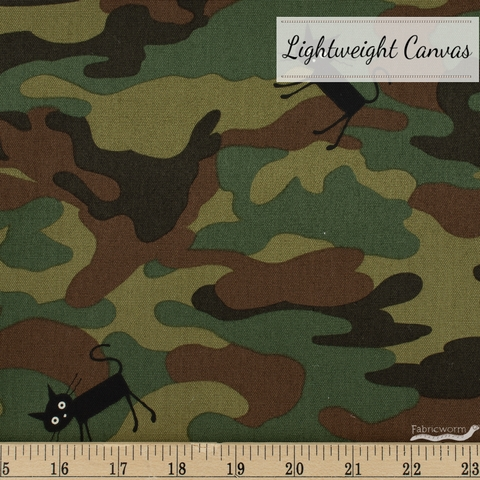 Japanese Import, Lightweight Canvas, Camo Kitty