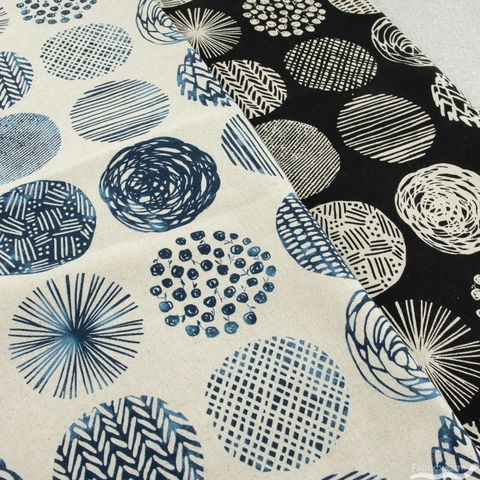Japanese Import, Lightweight Canvas, Differing Dots Natural