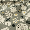 Japanese Import, Lightweight Canvas, Forest Life Grey