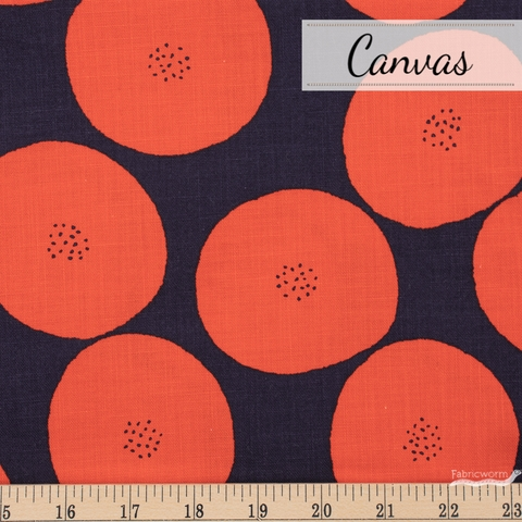 Japanese Import, Lightweight Canvas, Fruit Seed Red Fat Quarter