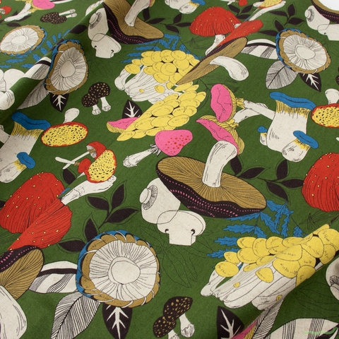 Japanese Import, Lightweight Canvas, Funky Fungi Forest