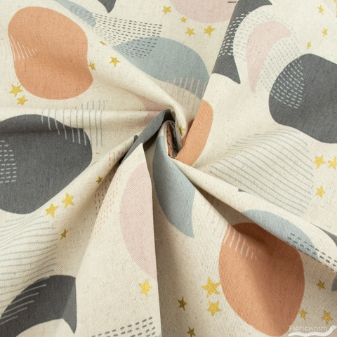 Japanese Import, Lightweight Canvas, Many Moons Sweet Natural Metallic