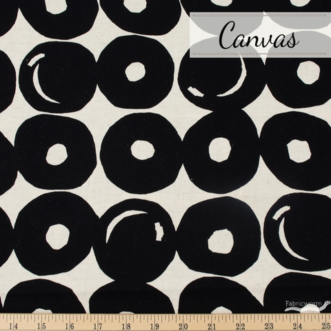 Japanese Import, Lightweight Canvas, Punch Dot Black