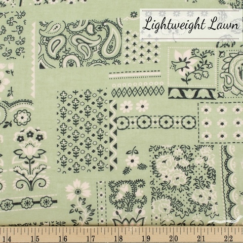 Japanese Import, Lightweight Lawn, Handkerchief Mint