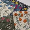 Japanese Import, Lightweight Linen, Beautiful Poppies Bundle 5 Total