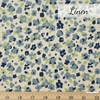 Japanese Import, Lightweight Linen, Floral Camo Blue