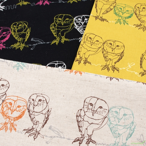 Japanese Import, Lightweight Linen, Owlet Black