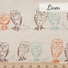 Japanese Import, Lightweight Linen, Owlet Natural Fat Quarter