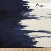 Japanese Import, Lightweight Linen, Paint Navy Double Border Print