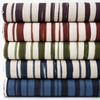 Japanese Import, Lightweight Linen, Paint Stripe Night Natural