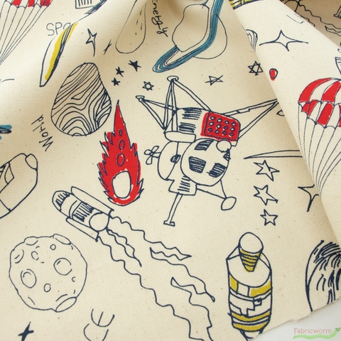 Japanese Import, Lightweight Oxford, Space Adventure Natural