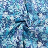 Japanese Import, Lightweight Twill, Fully Floral Blue