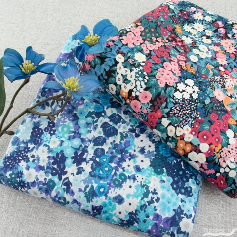 Japanese Import, Lightweight Twill, Fully Floral Multi