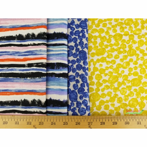 Japanese Import, LINEN BARKCLOTH, Tidal Waves Dawn
