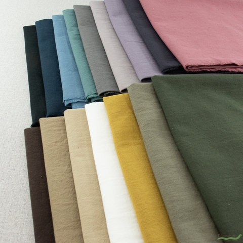Japanese Import, Linen Blend Canvas Solids, Bark