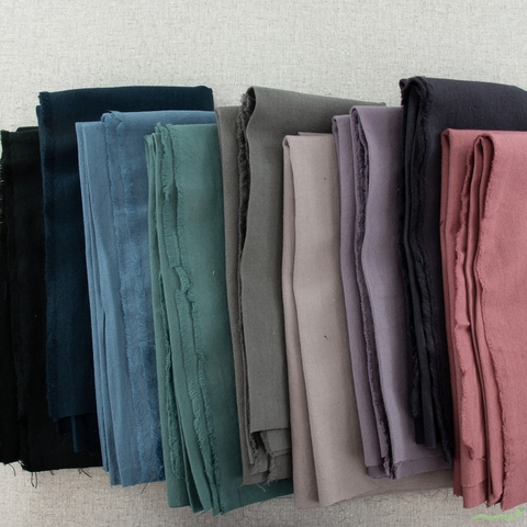 Japanese Import, Linen Blend Canvas Solids, Eggplant