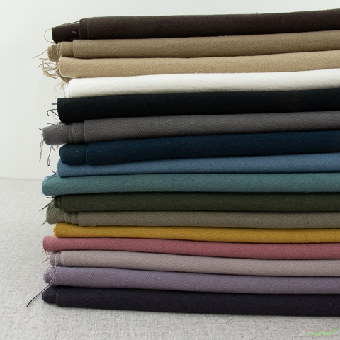 Japanese Import, Linen Blend Canvas Solids, Navy