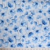 Japanese Import, Linen Blend, Perfect Poppies Natural Blue