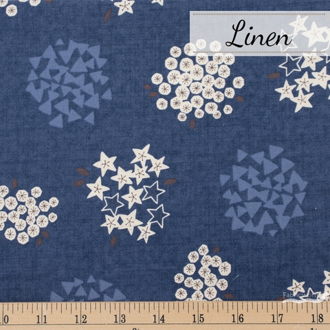 Japanese Import, Linen, Bloom Shapes Ocean