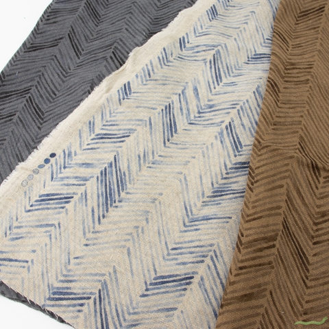 Japanese Import, Linen Double Gauze, Zig-Zag Wheat