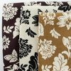 Japanese Import, Linen, Grand Floral Chocolate