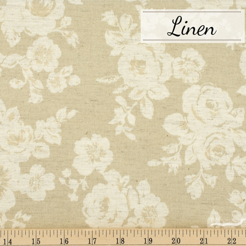 Japanese Import, Linen, Roundabout Rose Oatmeal