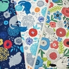 Japanese Import, Midweight Canvas, Big Bloom Buddies Navy