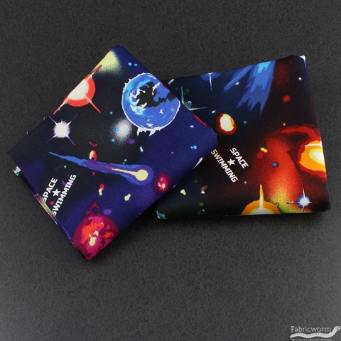 Japanese Import, OXFORD, Space Swimming Blue Green
