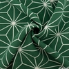 Japanese Import, Poly Crinkle, Star Lines Green