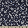 Japanese Import, POPLIN, Fine Vines Navy