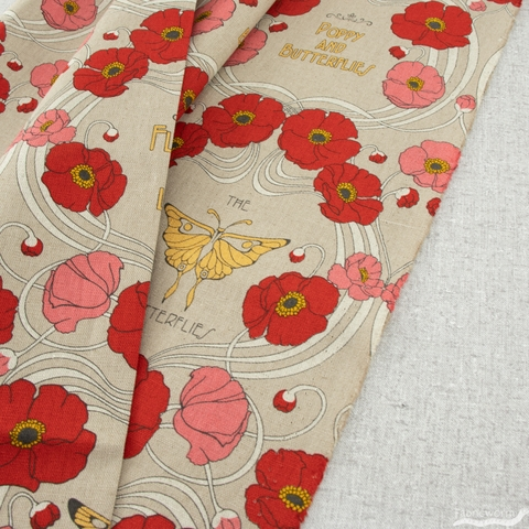 Japanese Import, Poppies and Wings Natural
