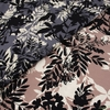 Japanese Import, Rayon Satin, Fine Vines Dusty Charcoal
