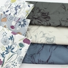 Japanese Import, Sateen, Floral Strokes Smoke