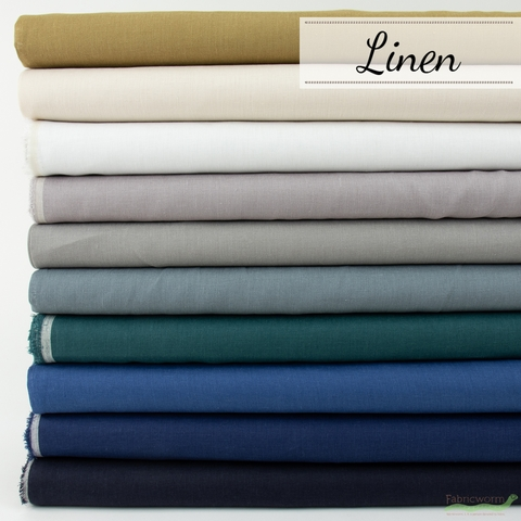 Japanese Import, Solid Linen in HALF YARDS 10 Total