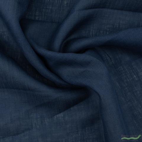 Japanese Import, Solid Linen, Navy