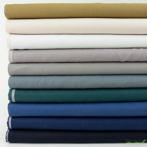 Japanese Import, Solid Linen, Smoke