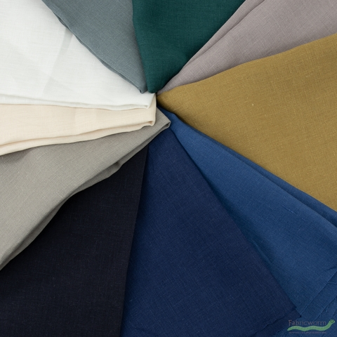 Japanese Import, Solid Linen, Teal