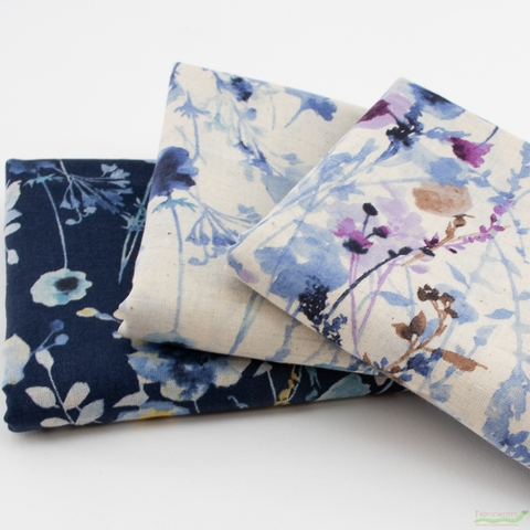 Japanese Import, Spring Floral Navy
