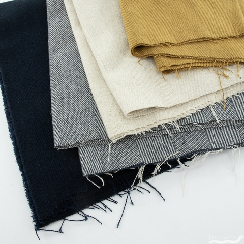 Japanese Import, Textured Linen, Herringbone Ginger