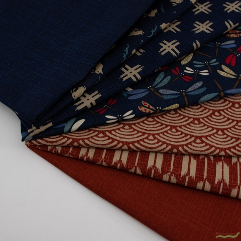 Japanese Import, Traditional Prints Sheeting, Solid Indigo Navy