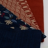 Japanese Import, Traditional Prints Sheeting, Solid Orange Red
