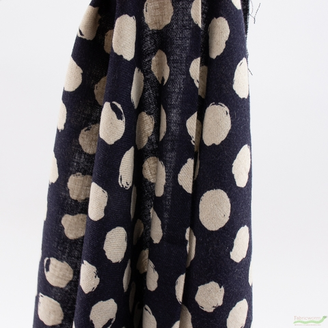 Japanese Import, Twill, Imperfect Dots Midnight