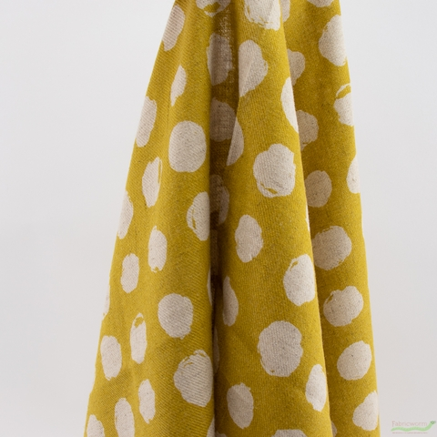 Japanese Import, Twill, Imperfect Dots Mustard