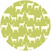 Jay-Cyn Designs for Birch Fabrics, Mod Basics 2, Organic, Elk Fam Grass