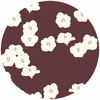 Jay-Cyn Designs for Birch Fabrics, Mod Basics 2, Organic, Poppies Mahogany