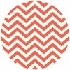 Jay-Cyn Designs for Birch Fabrics, Mod Basics 2, Organic, Skinny Chevron Coral
