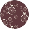 Jay-Cyn Designs for Birch Fabrics, Mod Basics, Birdie Spokes Mahogany