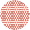 Jay-Cyn Designs for Birch Fabrics, Mod Basics, Organic, Dottie Color Coral