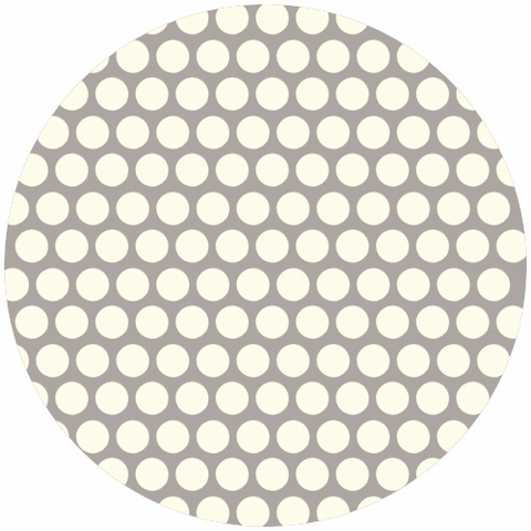 Jay-Cyn Designs for Birch Fabrics, Mod Basics, Organic, Dottie Cream Shroom