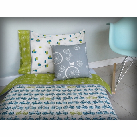 Jay-Cyn Designs for Birch Fabrics Organic Avalon Starry Flight Cactus